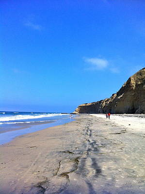 California Beach Hike Art Print