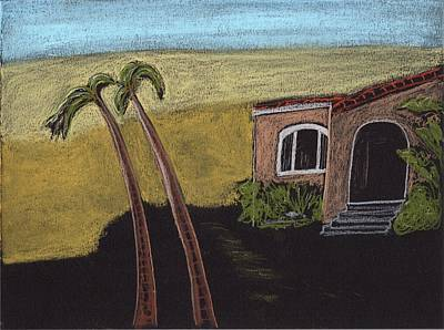 Drawing - California Beach House by Jim Taylor
