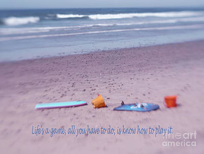 Coastal Quote Wall Art - Photograph - California Beach Life by Irina Wardas