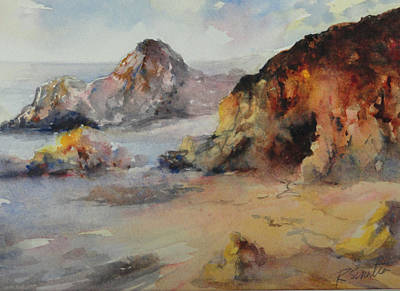 Laguna Beach Painting - California Beach by Rose Sinatra
