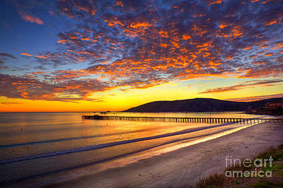 Avila Beach Sunset Art Print
