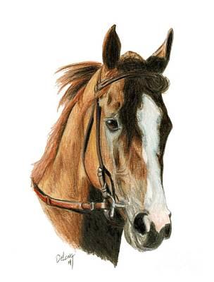 Horse Racing Painting - California Chrome 2 by Pat DeLong