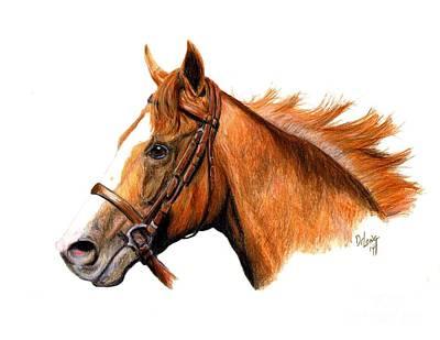 Race Horse Painting - California Chrome by Pat DeLong