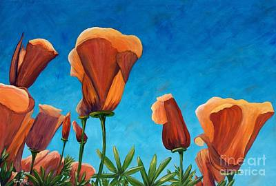 Art Print featuring the painting California Closeup by Terry Taylor