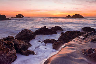 Photograph - California Coast Sunset by Kyle Simpson