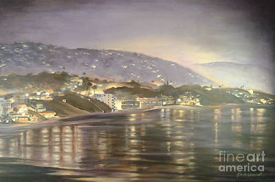 Art Print featuring the painting California Coastal by Renee Womack