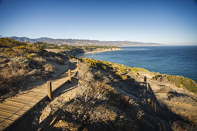 Bluff Photograph - California Coastline From Point Dume by Adam Romanowicz