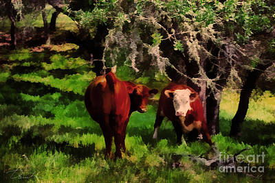 Painting - California Cows by Danuta Bennett