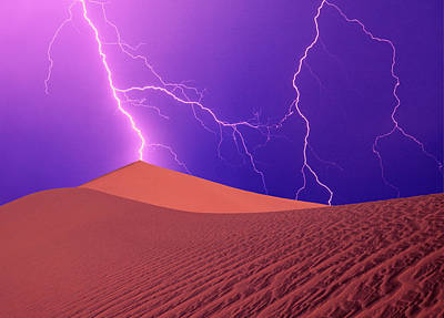 Lightning Bolt Photograph - California, Death Valley National Park by Jaynes Gallery