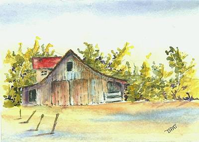 California Desert Barn Original by David Patrick