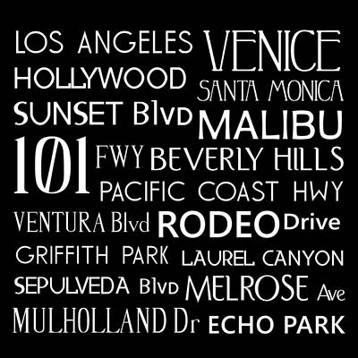 Beverly Hills Digital Art - California Destinations by Jaime Friedman