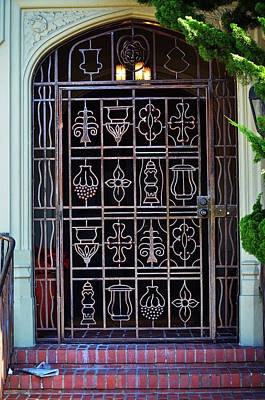 Photograph - California Door Collection 4 by Xueling Zou