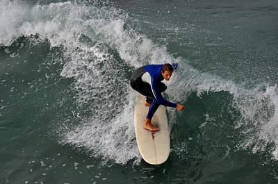 California Dreamin Surfer Print by Diane Lent