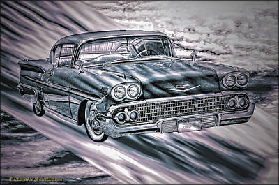 Speeding Chevrolet Photograph - Chevy In The Sky by LeeAnn McLaneGoetz McLaneGoetzStudioLLCcom