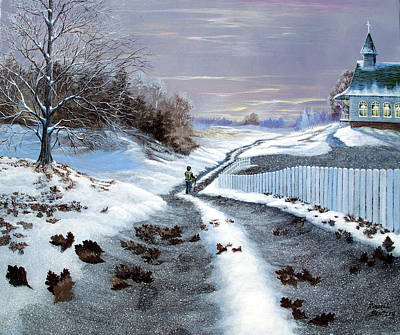 Snowscape Painting - California Dreaming by Russell Bentley