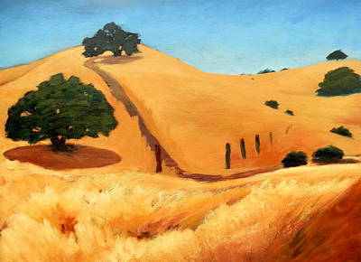 Painting - California Dry Grass by Gary Coleman