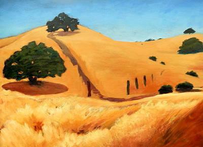California Dry Grass Art Print