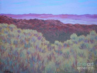 California Dry River Bed Art Print by Suzanne McKay