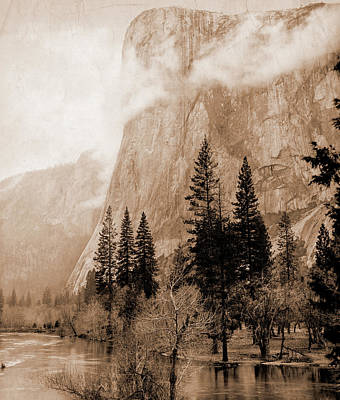 Yosemite National Park Drawing - California, El Capitan, Yosemite Valley, Jackson, William by Litz Collection
