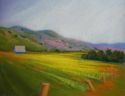 Painting - California Field In May  by Celine  K Yong