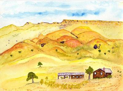 California Foothill Homestead Art Print
