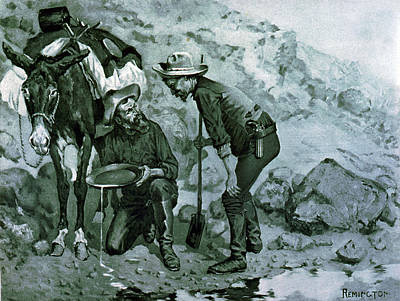 Gold Panning Photograph - California Gold Rush, 1849 by Science Source