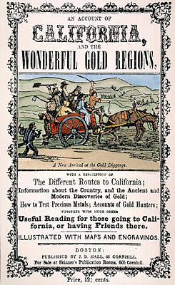 Instruction Painting - California Gold Rush Guide by Granger