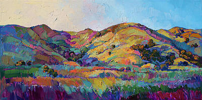 Brush Painting - California Greens II by Erin Hanson