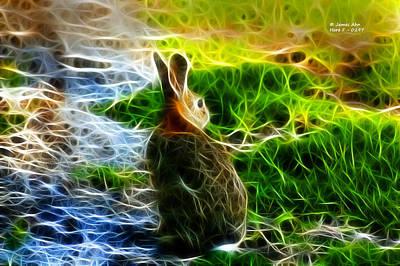 Digital Art - California Hare - 0297 by James Ahn