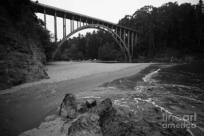 Clouds Rights Managed Images - California Highway 1 Bridge over Russian Gulch Royalty-Free Image by Jason O Watson
