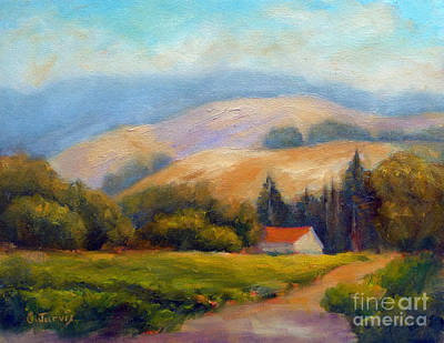 Painting - California Hills by Carolyn Jarvis