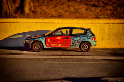 Sunset Photograph - California Honda Painted By Owner by Jeremy Herman