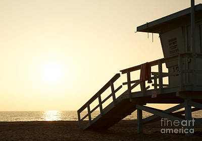 Photograph - California Lifeguard Station At Sunset by David Lee
