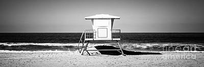 Shack Photograph - California Lifeguard Tower Panoramic Picture by Paul Velgos