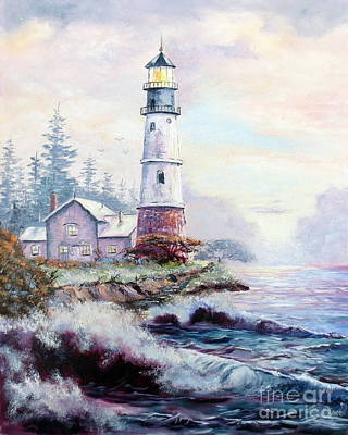 Art Print featuring the painting California Lighthouse by Lee Piper