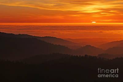 California Mountain Sunset Art Print by Matt Tilghman