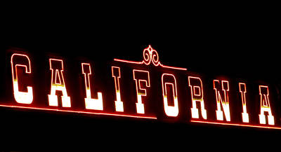 Photograph - California Neon by Randall Weidner