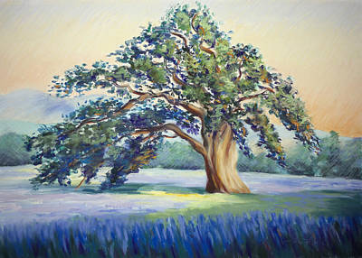 Impresionism Pastel - California Oak by Karin  Leonard