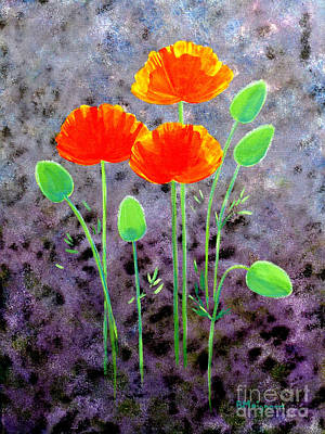 Painting - California Poppies by Barbara Moignard