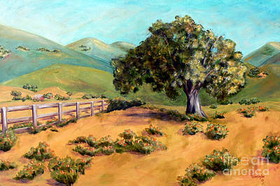 Art Print featuring the painting California Poppies II by Terry Taylor