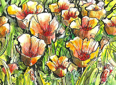 California Poppies Art Print by Terry Banderas