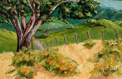 Art Print featuring the painting California Poppies by Terry Taylor