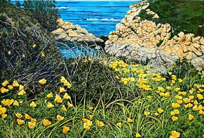 California Poppies Art Print by Thomas Akers