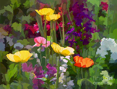 Digital Art - California Poppies by Ursula Freer