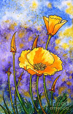Painting - California Poppies by Zaira Dzhaubaeva