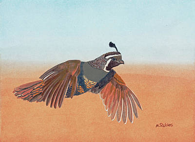 Painting - California Quail by Mike Robles