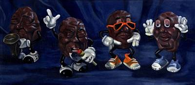 Painting - California Raisins by Rick Liebenow