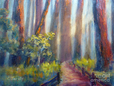 Painting - California Redwoods by Carolyn Jarvis