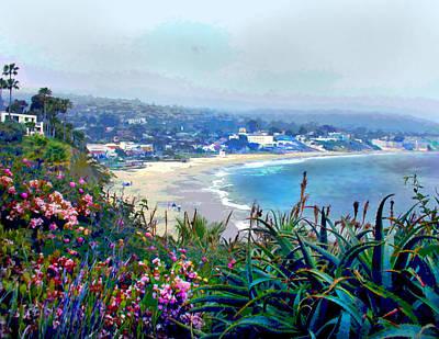Laguna Beach Painting - California Riviera by Elaine Plesser