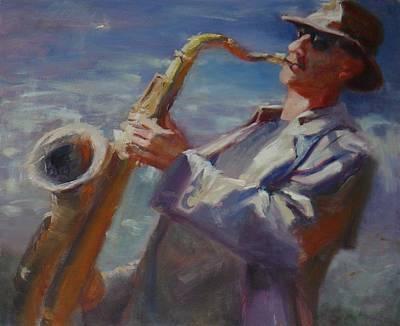 California Saxophone Player Original